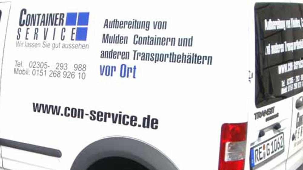 vor Ort Containeraufbereitung und Industrielackierung